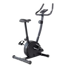 Bicicleta fitness exercitii TECHFIT B250, Sistem inertie volanta 4.5 Kg, Greutate utilizator 110 Kg, Suport smartphone, Ghidon ajustabil, Negru