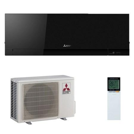 Aparat de aer conditionat Mitsubishi Electric Kirigamine Zen Black MSZ-EF35VE2B-MUZ-EF35VE Inverter 12000 BTU, Clasa A+++, Curatare rapida, Auto-diagnoza, Racire economica, Auto-diagnoza, Wi-Fi Ready