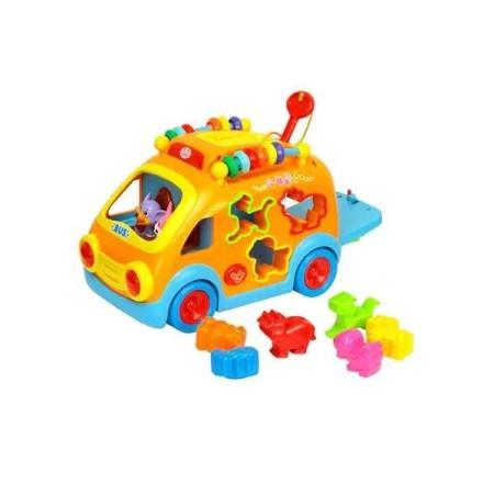 Jucarie sortare M-Toys - Masinuta animalelor cu forme si lumini