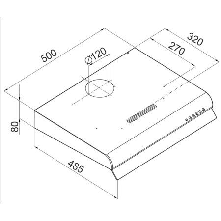 Hota traditionala Hansa OSC5211H, Putere de absorbtie 183 mc/h, 50 cm, Inox