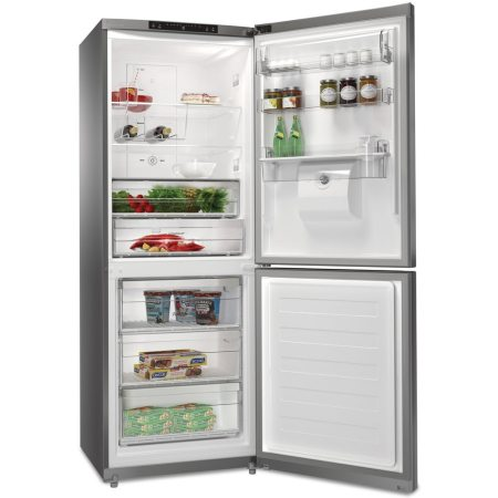 Combina frigorifica Whirlpool BTNF 5011 OX AQUA, 445 l, Clasa A+, Full No Frost, 6th Sense , Dispenser apa, H 195.5 cm, Inox