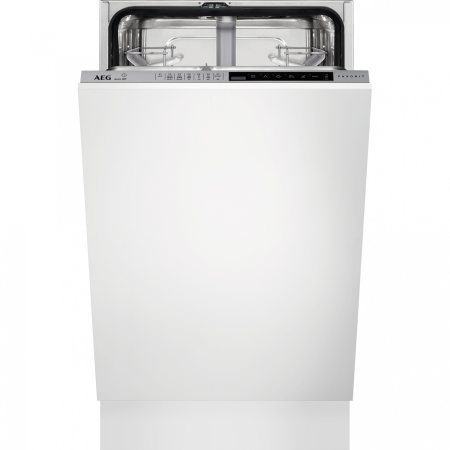 Masina de spalat vase incorporabila AEG FSE83400P, 9 seturi, 7 programe, Clasa A+++, Moto inverter, Afisaj digital, Time Beam, 45 cm