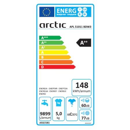 Masina de spalat rufe Slim Arctic APL51011BDW3, 5 kg, 1000 RPM, Clasa A++, Alb