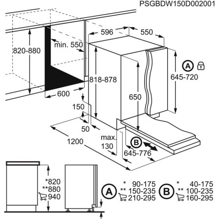 Masina de spalat vase incorporabila Electrolux ESL5205LO, 13 seturi, 5 programe, Clasa A+, Afisaj LED, 60 cm