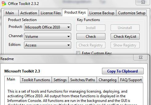 microsoft toolkit 2.3 2 for office 2010 and ez activator