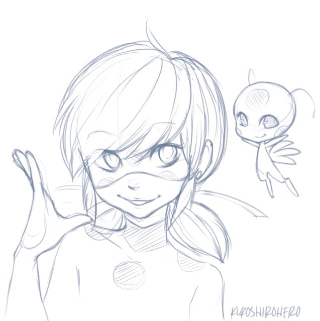 Drawing Ladybug Miraculous Ladybug And Tikki Image 4032394 On Favim Com
