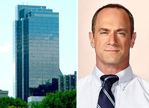 230 West 56th Street in Midtown and Christopher Meloni