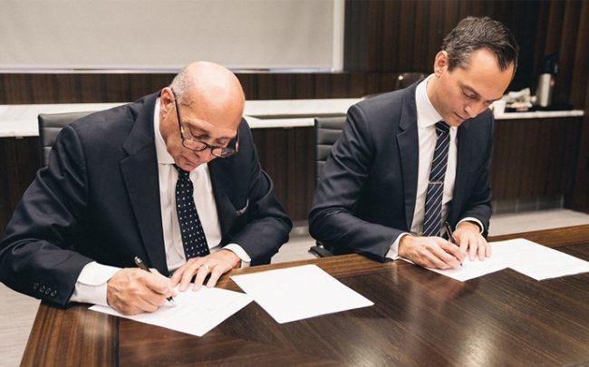 The agreement was signed today at UBC's New York Council offices in Manhattan by Nathan Blecharczyk, Airbnb co-founder, Chief Strategy Officer, and Frank Spencer, General Vice President of UBC.