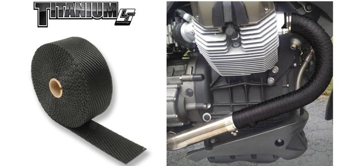 original titanium exhaust wrap in black