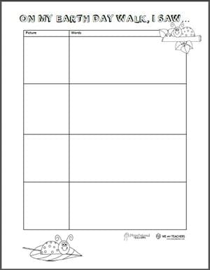 Free Printable On My Walk Observation Sheets
