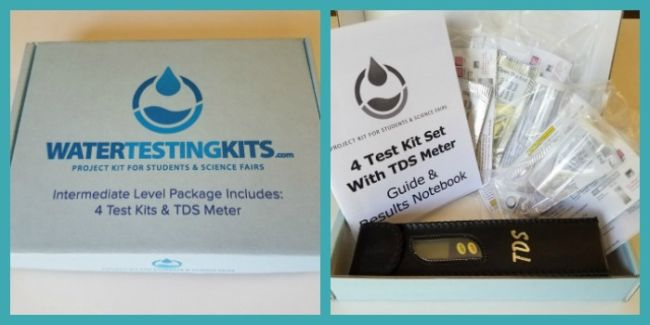 Water quality testing kit with TDS meter