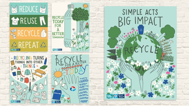 free recycling posters for your
