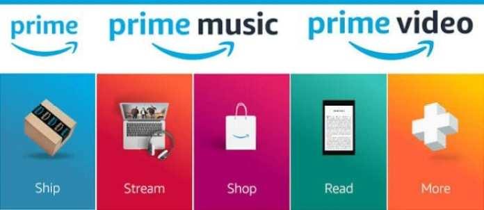 Amazon Prime perks including Prime Music, Prime Video, and more