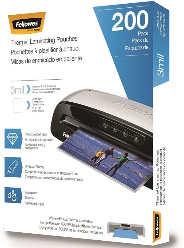 Fellowes 3 mil Letter Size Laminating Pouches (Best Laminating Pouches)