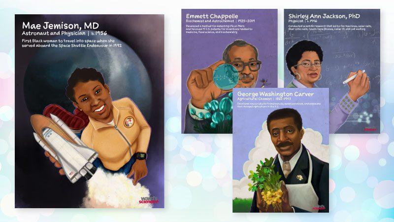 black scientist posters to celebrate