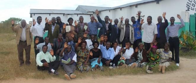 Bernard in a village teaching