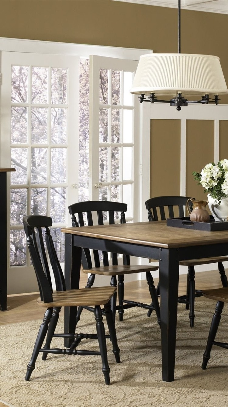 Dining Room Table Chairs Interior 750x1334 Iphone 8 7 6 6s Wallpaper Background Picture Image