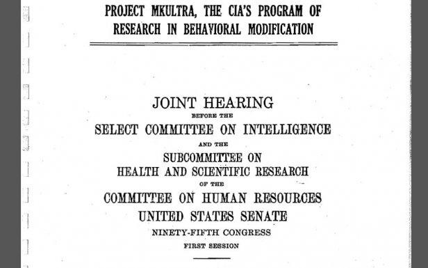 Pierwsza strona raportu z1977 roku, poświęconego MK-ULTRA