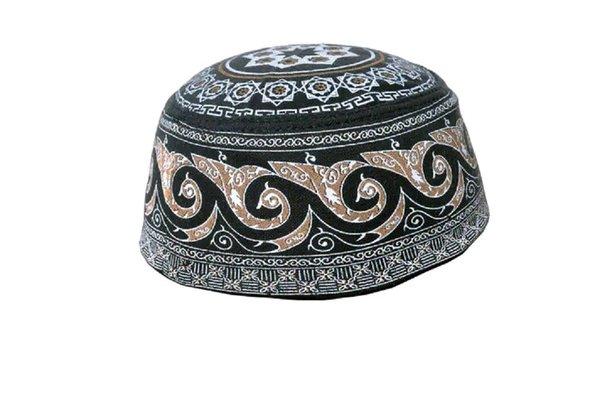 Peci haji motif warna hitam nyaman dan adem pakai