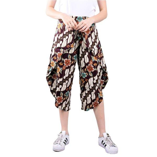 Celana Kulot Wanita Batik Coklat