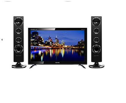 TV Polytron LED TV 24 Inch Cinemax Tower Speaker PLD 24T8511