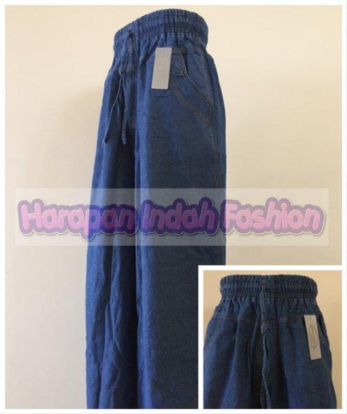 Celana Panjang Kulot Wanita Bahan Jeans CK02