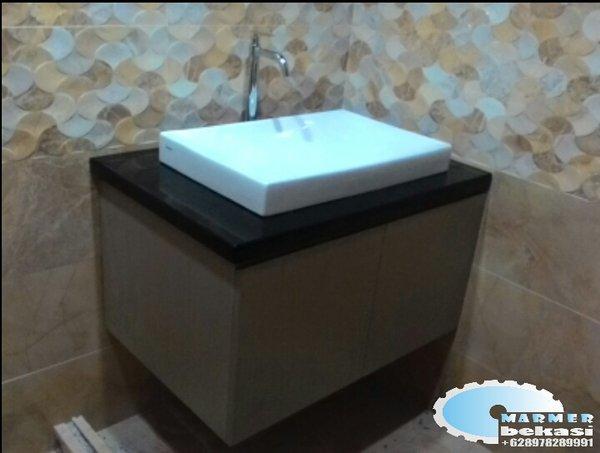 meja wastafel granit