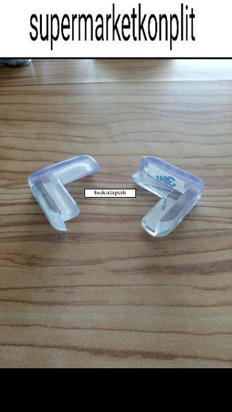 karet siku pelindung / pengaman meja sudut bening kegunaan kaca kayu besi aluminium dll supaya tidak tajam dan benturan kepala sehingga aman untuk anak dan bayi harga 1 buah sudah ada double tape 3m