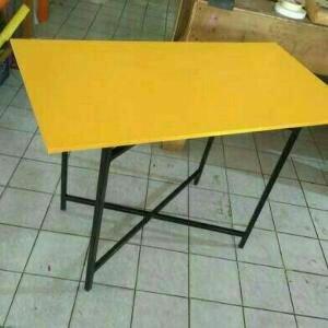 Meja Lipat Meja Makan Lesehan untuk Jualan Bazar Pameran Kayu Murah 80x60x70