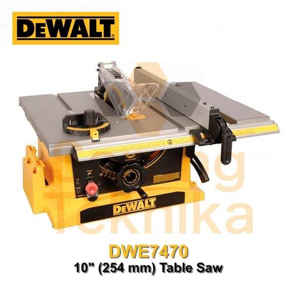 Mesin Gergaji Circular Meja Table Saw Dewalt Dwe7470