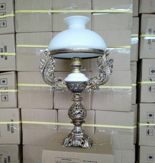 lampu meja klasik ukuran kap 28 antik