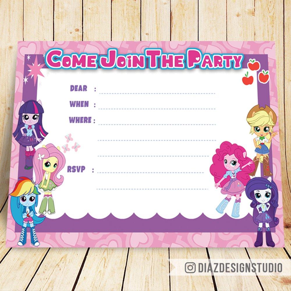 Jual Kartu Undangan Ulang Tahun My Little Pony Lucu Di Lapak Justin