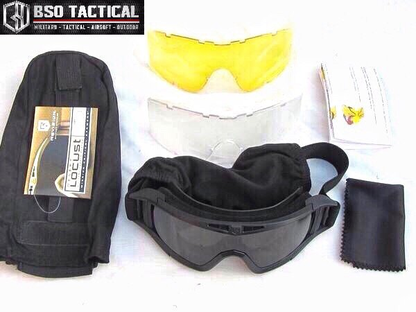 PROMO Goggle US Military Tactical Desert Locust Revision 3 Colour   3 Lenses SKUBS88
