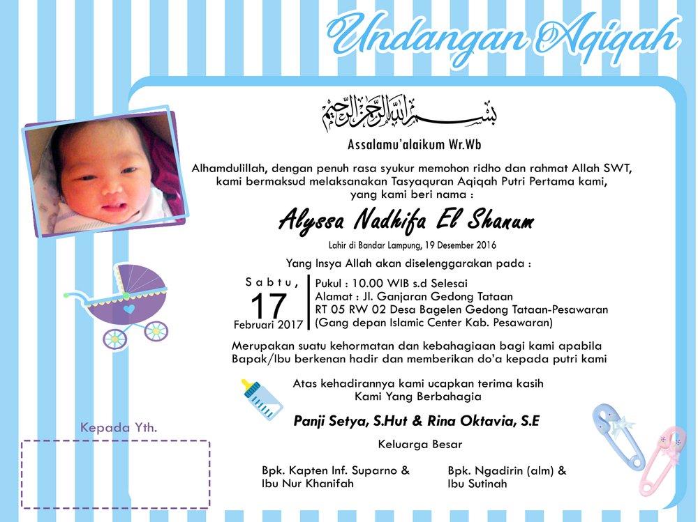 Jual Undangan Aqiqah Anak Di Lapak Elshanum Printing Elshanumdp19