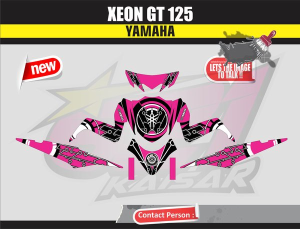 STICKER STRIPING STICKER MOTOR XEON GT 125 PINK