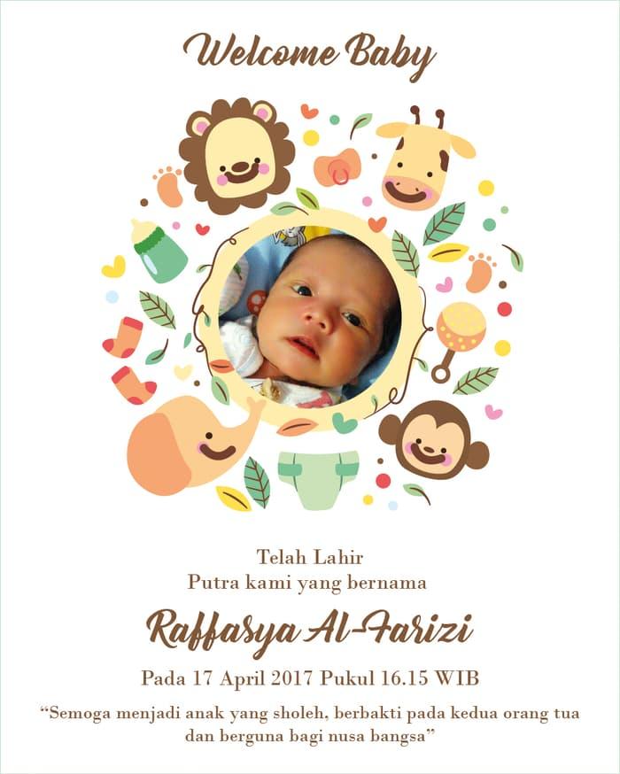 Jual Produk Kartu Ucapan Kelahiran Bayi Aqiqah Murah Dan Terlengkap