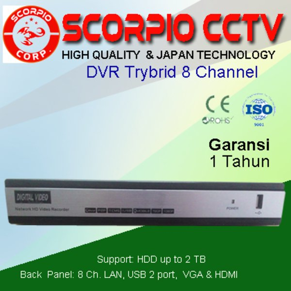 STARCOM CCTV DVR 8 CHANNEL