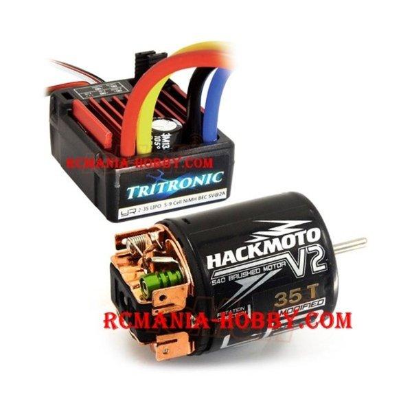 Baru YR Tritronic 1 10 Waterproof 60A ESC w  Hackmoto V2 35T Brushed