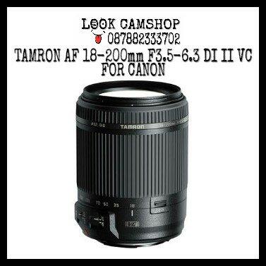 LENSA KAMERA DSLR TAMRON 18-200mm 18-200 F3.5-6.3 Di II VC FOR CANON EOS 1100D 1200D 1300D 550D 600D 650D 700D 750D 760D 50D 60D 70D 5D 6D 7D