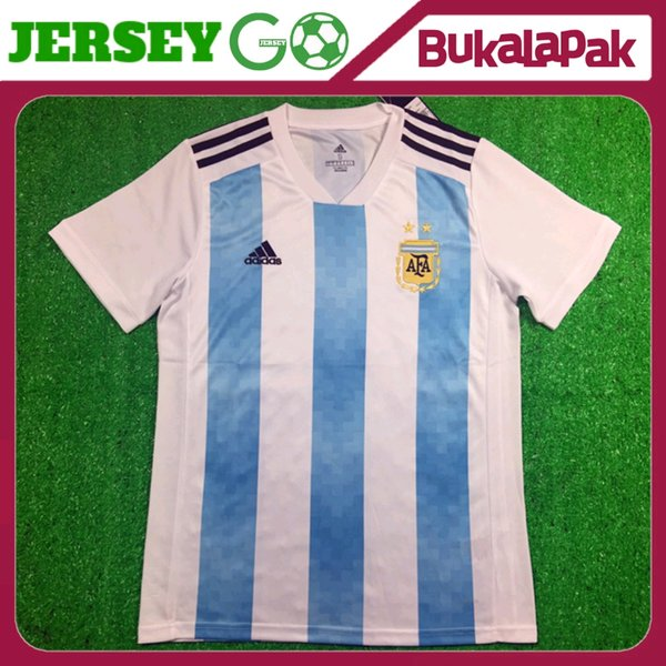 JERSEY ARGENTINA HOME WORLD CUP - PIALA DUNIA 2018 GRADE ORI