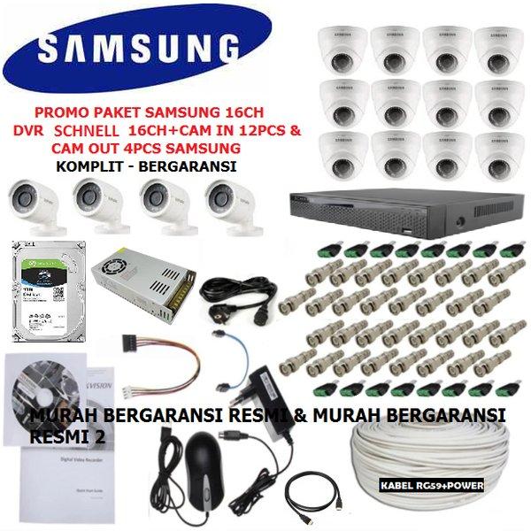 PAKET CCTV 16CHANNEL SAMSUNG MIX SCHNELL FULL HD 2MP 1080P KOMPLIT LENGKAP SIAP PASANG