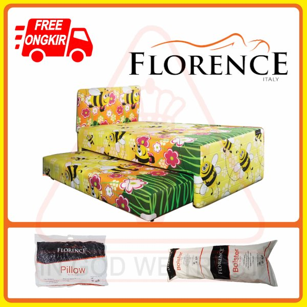 Florence Spring Bed (Satu Set) Bee (120x200) (Single Size)