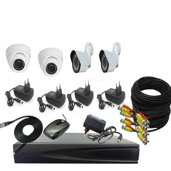 PROMO PAKET CCTV  2 CAMERA IN 1.3MP - 2 CAMERA OUT 1.3MP - DVR 4 CH