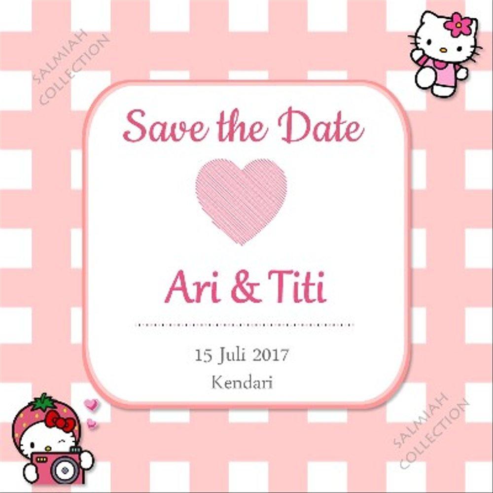 Jual Undangan Pernikahan Hello Kitty 2 Di Lapak Sitti Salmiah
