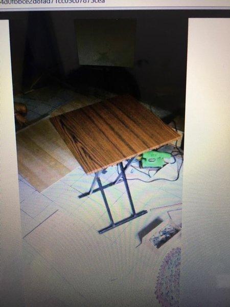 Meja Lipat Meja Makan Lesehan untuk Jualan Bazar Pameran Kayu Murah 60x40x70cm