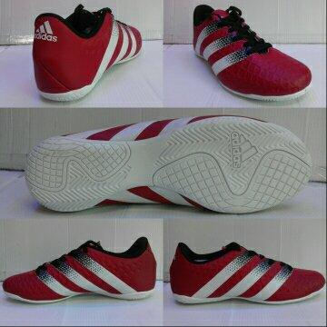 Sepatu Futsal Adidas ACE.16 Maroon list Hitam-Putih Grade Ori