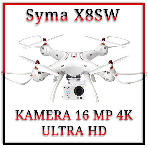 Drone syma x8sw with action camera kogan 16mp 4k ultra Hd Wifi fvp
