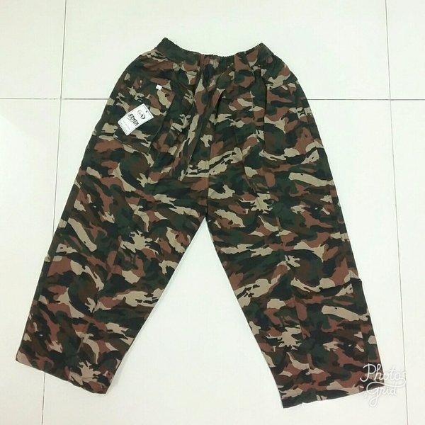 Celana Sirwal Loreng Coklat Terang - Celana Cingkrang