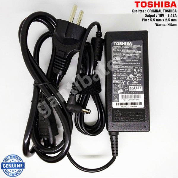 Adaptor Charger Laptop Toshiba Satellite 19v 3.42a Original