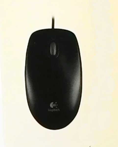 Logitech B100 Optical Mouse USB Black